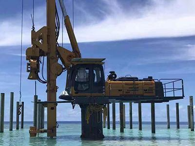 Rig Mounted Vibratory Pile Hammer Projects in Maldives